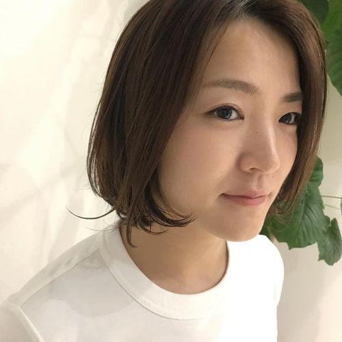 切りっぱなし風bob hair#hearty#shiori_hair#ヘアスタイル#ヘアカラー###高崎美容室#高崎