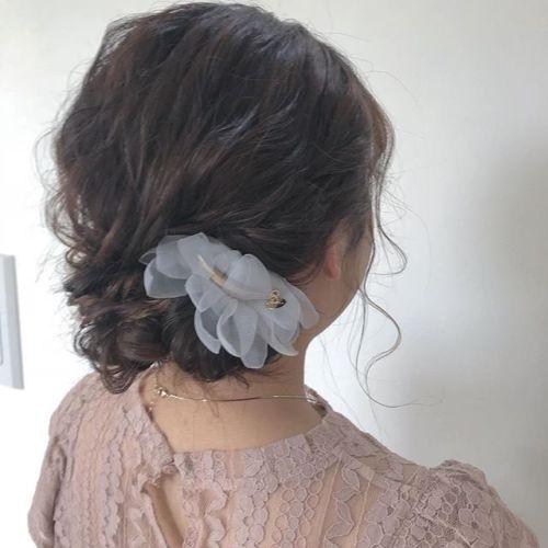 担当シオリ @shiori_tomii 大人めヘアアレンジ#hearty#shiori_hair #ヘアアレンジ#ヘアセット#結婚式ヘア#高崎美容室#群馬美容室#高崎#群馬