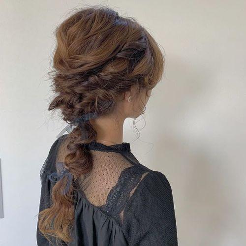 担当シオリ @shiori_tomii ヘアセットあみあみアレンジ#hearty#shiori_hair #ヘアセット#ヘアアレンジ#結婚式アレンジ#結婚式ヘアセット#編み込みアレンジ#高崎美容室#群馬美容室#高崎#群馬