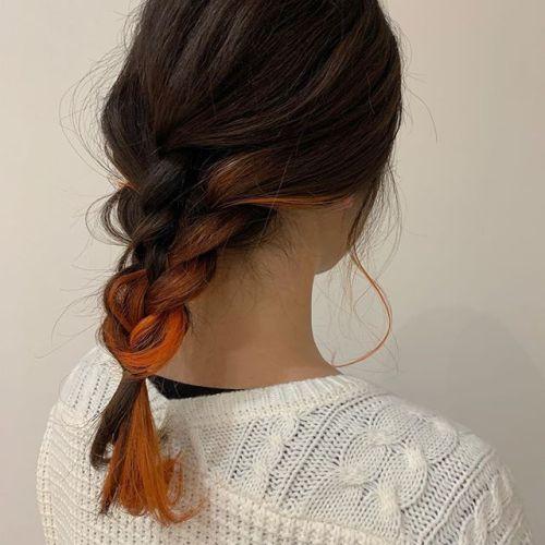 担当シオリ @shiori_tomii 違うバージョンアレンジ#hearty#shiori_hair #オレンジカラー #ポイントカラー#ハイライト#ブリーチ#高崎美容室#群馬美容室#高崎#群馬