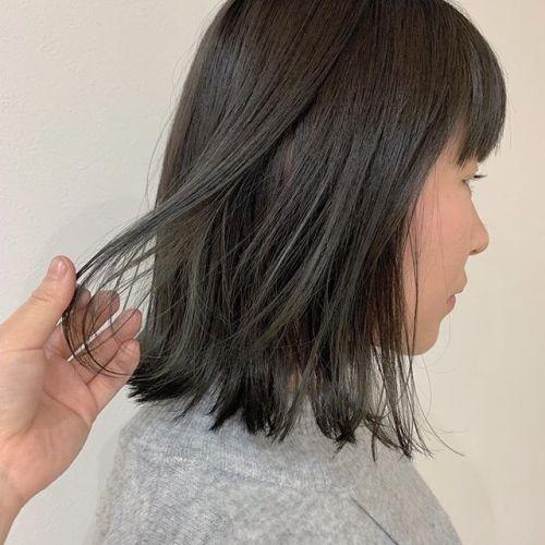 担当シオリ @shiori_tomii くすみグレージュカラー#hearty#shiori_hair #グレージュ#くすみカラー#透明感カラー#高崎美容室#群馬美容室#高崎#群馬