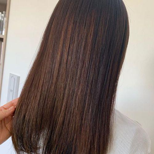 担当シオリ @shiori_tomii beforeとafterロイヤルトリートメントでサラツヤgetしましょう#hearty#shiori_hair #ロイヤルトリートメント#艶髪#高崎美容室#群馬美容室#高崎#群馬