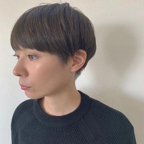 担当シオリ @shiori_tomii アッシュベージュのマッシュヘア🦔#hearty#shiori_hair #マッシュショート #アッシュベージュ#ベージュ#高崎美容室#群馬美容室#高崎#群馬