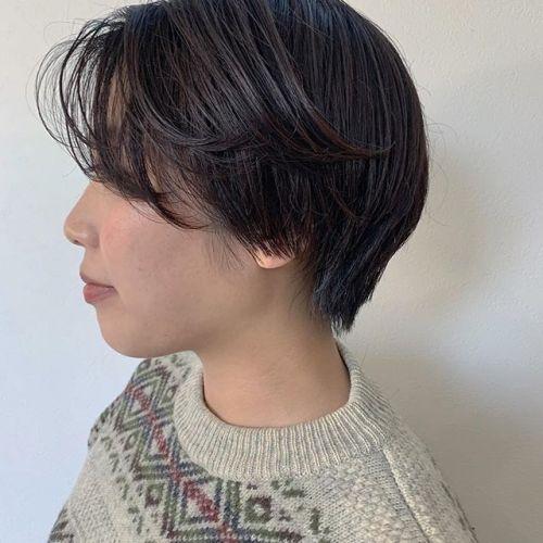 担当シオリ @shiori_tomii ハンサムショート🥀🥀#hearty#shiori_hair #ハンサムショート#ショートヘア#高崎美容室#群馬美容室#高崎#群馬