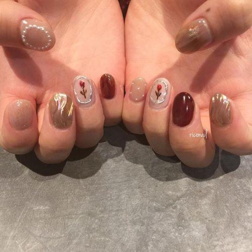 甘すぎないかわいい系ネイル❁#riconail #HEARTY #abond #nail #nails #gelnail #gelnails #nailart #instanails #nailstagram #beauty #fashion #nuancenail #ネイル #ジェルネイル #ネイルデザイン #ニュアンスネイル #ヴィンテージネイル @riconail123