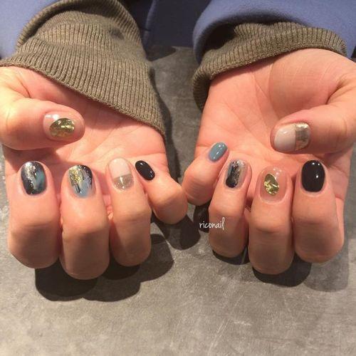 寒色系ニュアンスネイル✩#riconail #HEARTY #abond #nail #nails #gelnail #gelnails #nailart #instanails #nailstagram #beauty #fashion #nuancenail #ネイル #ジェルネイル #ネイルデザイン #ブラスプレート #ニュアンスネイル #ミラーネイル @riconail123