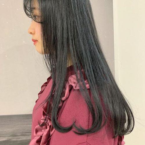 担当シオリ @shiori_tomii オルチャンスタイルダークグレーでトーンダウン#hearty#shiori_hair #オルチャンヘア #オルチャン#韓国ヘア#ダークグレー#トーンダウン#高崎美容室#群馬美容室#高崎#群馬