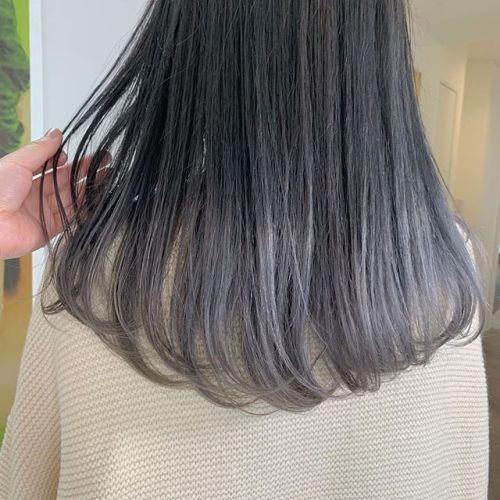 担当シオリ @shiori_tomii ホワイトラベンダーのグラデーション#hearty#shiori_hair #ホワイトラベンダー#ラベンダー#グレージュ#高崎美容室#群馬美容室#高崎#群馬