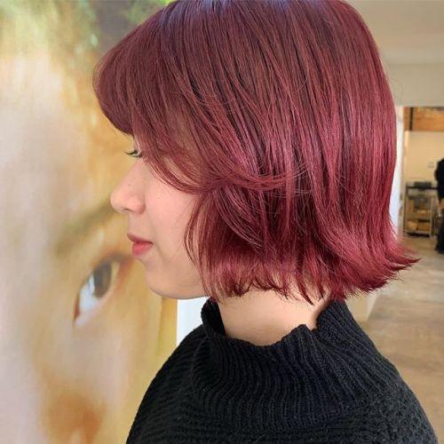 担当シオリ @shiori_tomii Korean colorホットピンクベルベットカラーでかわいいです#hearty#shiori_hair #ピンクカラー#ホットピンク#ピンクカラー#韓国ヘア #オルチャンヘア #オルチャン#ベルベットカラー#ボブ#切りっぱなしボブ#高崎美容室#群馬美容室#高崎#群馬