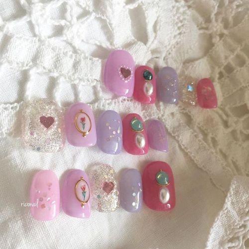 ユニコーンカラーのネイルチップ♡̷♡̷♡̷#riconail #HEARTY #abond #nail #nails #gelnail #gelnails #nailart #instanails #nailstagram #beauty #fashion #nuancenail #ネイル #ジェルネイル #ネイルデザイン #ニュアンスネイル #ネイルチップ #オーダーチップ @riconail123