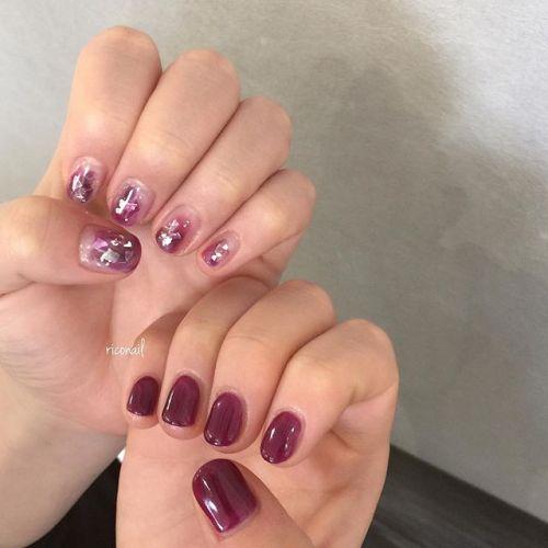 美味しそうな色のアシンメトリーネイル#riconail #HEARTY #abond #nail #nails #gelnail #gelnails #nailart #instanails #nailstagram #beauty #fashion #nuancenail #ネイル #ジェルネイル #ネイルデザイン #ニュアンスネイル #アシンメトリーネイル @riconail123