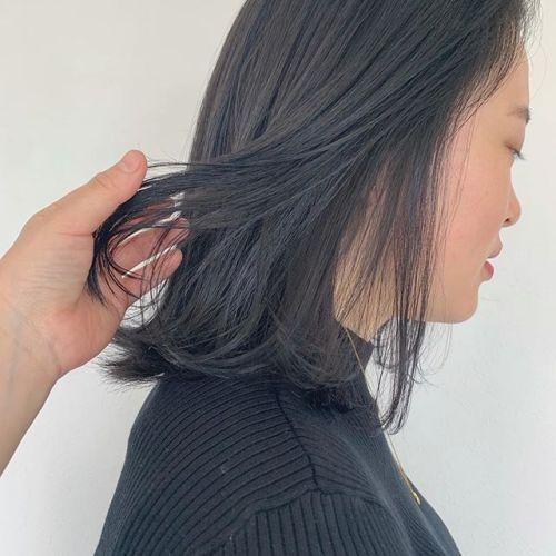 担当シオリ @shiori_tomii トーンダウンはブルーグレーがおすすめ🌨#hearty#shiori_hair #グレージュ#ブルージュ#ヘアスタイル#高崎美容室#群馬美容室#高崎#群馬