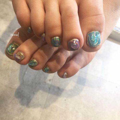 foot nail ღღღ#riconail #nail #nails #gelnail #gelnails #nailart #instanails #nailstagram #beauty #fashion #nuancenail #footnail #ネイル #ジェルネイル #ネイルデザイン #ニュアンスネイル #フットネイル #ミラーネイル #クリアネイル #ユニコーンパウダーネイル #個性派ネイル @riconail123