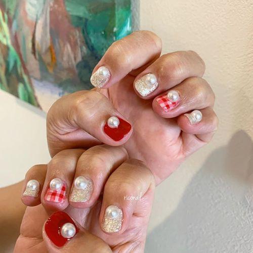 ギンガムチェック#riconail #HEARTY #abond #nail #nails #gelnail #gelnails #nailart #instanails #nailstagram #beauty #fashion #nuancenail #ネイル #ジェルネイル #ネイルデザイン #フットネイル #ニュアンスネイル #個性派ネイル @riconail123