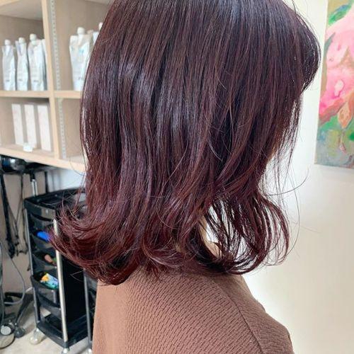 担当シオリ @shiori_tomii ブリーチなしのディープピンク#hearty#shiori_hair #ピンクヘアー #ディープピンク#ローズピンク#高崎美容室#群馬美容室#高崎#群馬