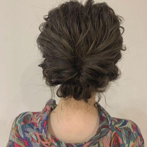 担当シオリ @shiori_tomii ヘアセット#hearty#shiori_hair #ヘアセット#ヘアアレンジ#hairset#結婚式ヘアアレンジ #成人式ヘア #二次会ヘア #高崎美容室#群馬美容室#高崎#群馬