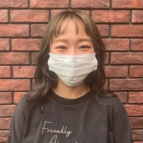 美容学生の金子さんサロンワークをしにきています!!スタイリングはアシスタントの石田が担当しました笑顔が可愛い~~!!#hearty#美容学生#heartyabond #衛生対策