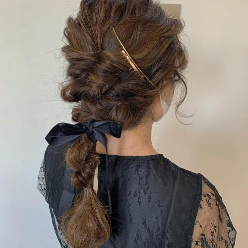 stylist トミイシオリ @shiori_tomii #hearty#shiori_hair #ヘアアレンジ#ヘアセット#ポニーテール #ポニーテールアレンジ #高崎美容室#群馬美容室#高崎#群馬