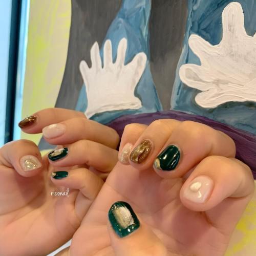 先月のお客様ネイル⸝⋆#riconail #HEARTY #abond #nail #nails #gelnail #gelnails #nailart #nuancenail #ネイル #ジェルネイル #ネイルケア #ニュアンスネイル #マグネットネイル #クリアネイル @riconail123