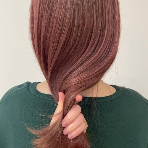 担当シオリ @shiori_tomii フラミンゴピンクカラー🦩#hearty#shiori_hair #ピンクベージュ #ピンクブラウン #ピンクオレンジ#ピンクフラミンゴ#高崎美容室#群馬美容室#高崎#群馬