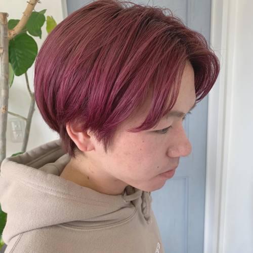 担当→コガワ @momokakogawa スタッフの永井くんカラーしましたさつまいもカラー