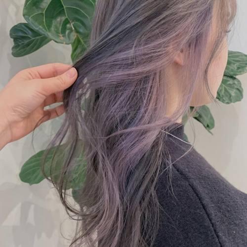 担当→コガワ@momokakogawa lavender color ♡#ラベンダーカラー#ケアブリーチ#インナーカラー#ラベンダーグレー