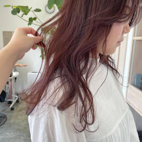 ピングレーくすみピンクなら派手すぎないでかわいいです♡#hearty#shiori_hair #ピンクグレー#ピンクベージュ #ピンクブラウン #ピンクカラー #高崎美容室#群馬美容室#高崎#群馬
