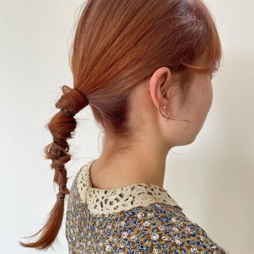 担当シオリ @shiori_tomii オレンジベージュ#hearty#shiori_hair #オレンジカラー #オレンジブラウン #オレンジベージュ #ヘアアレンジ#ヘアセット#高崎美容室#群馬美容室#高崎#群馬