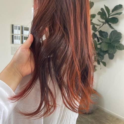担当シオリ @shiori_tomii アプリコットオレンジ🧡ブリーチなしでいけます🧡#hearty#shiori_hair #オレンジ#オレンジカラー #オレンジブラウン #オレンジベージュ #アプリコットオレンジ#高崎美容室#群馬美容室#高崎#群馬