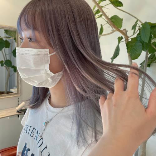 担当シオリ @shiori_tomii ラベンダーベージュ#hearty#shiori_hair #ラベンダーベージュ#ラベンダーアッシュ#グレージュ#ラベンダーカラー #高崎美容室#群馬美容室#高崎#群馬