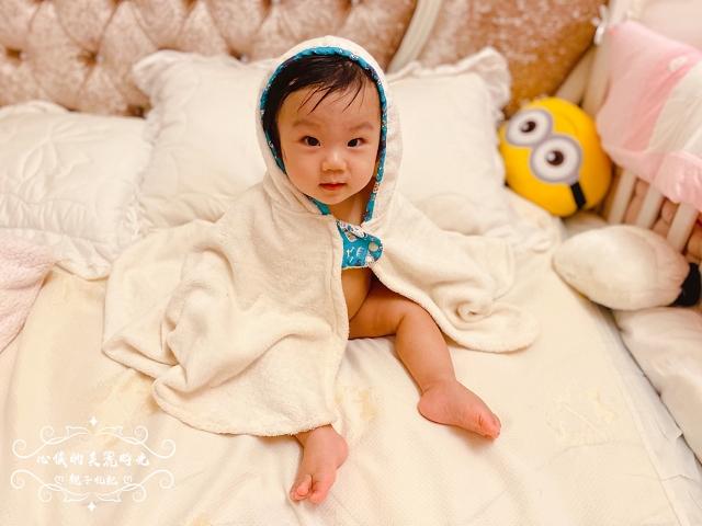 喜福HIBOU吸水浴巾有機棉∥小斗篷連帽浴巾│