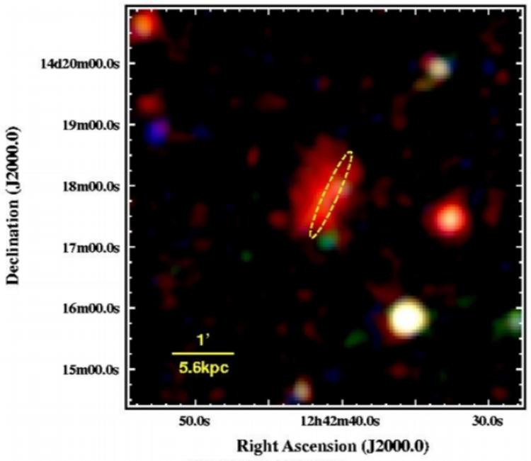 Corona around edge-on spiral NGC 4634