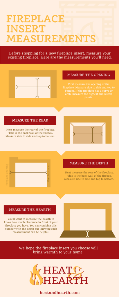 fireplace insert measurements
