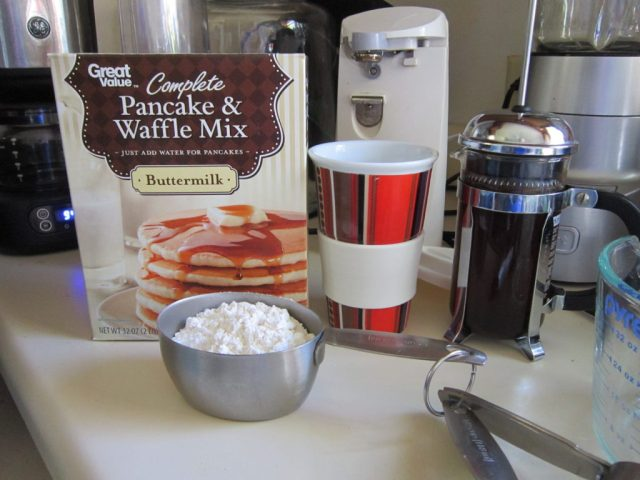 Yes. Pancake Mix from Walmart.