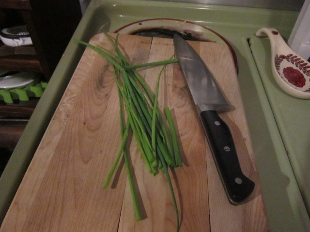 I didn't use all the green onions, but don't worry, they'll grow back soon.