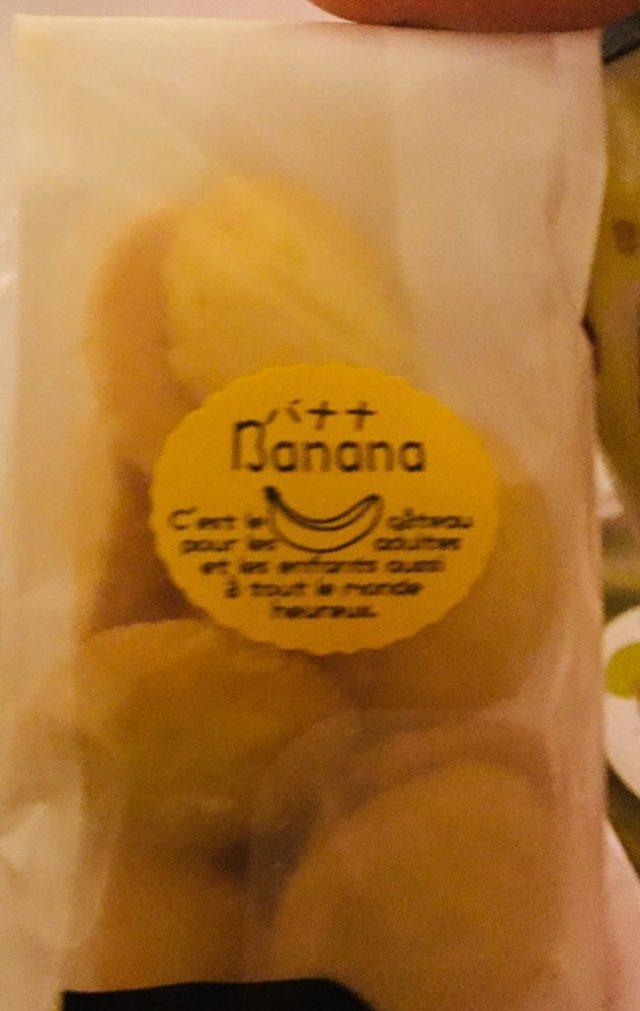 Banana cookie bag