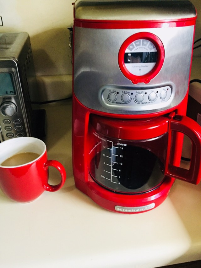 Red Kitchenaid Coffee Pot