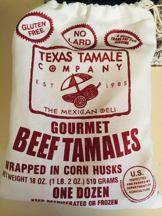 Muslin bag of Texas Tamale company