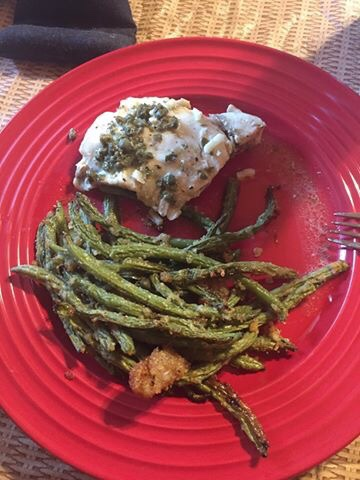 keto baked fish and green beans