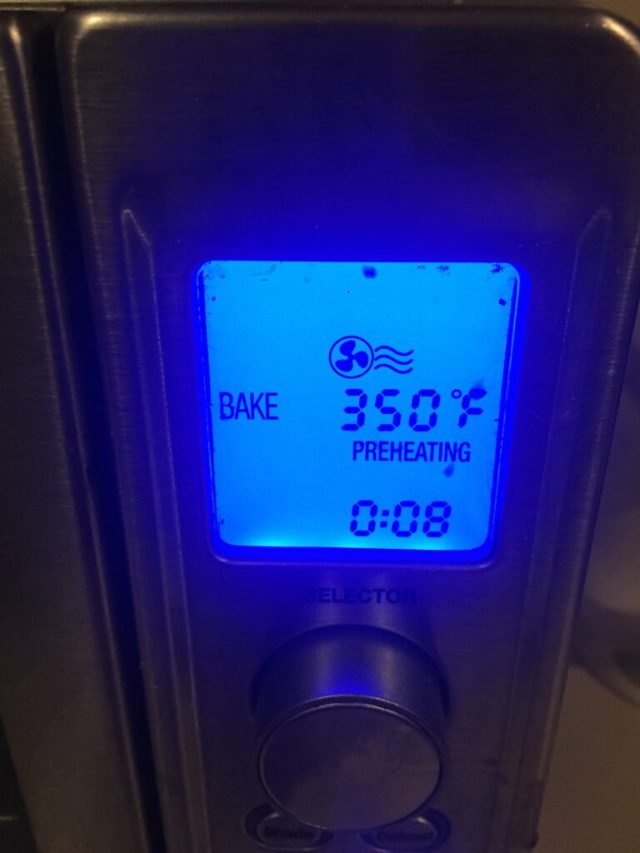 Temperature on oven