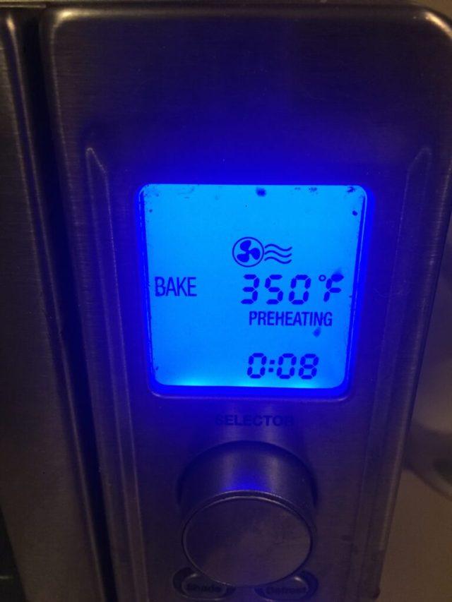 Temperature on oven
