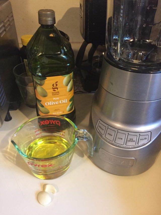 olive oil and garlic