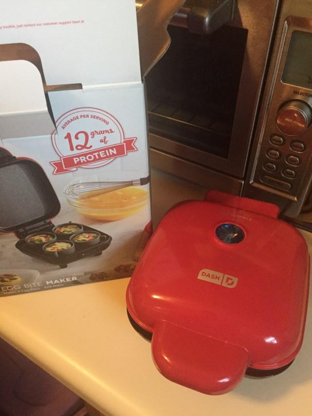 Egg bite maker on countertop
