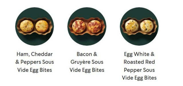 Picture of Starbucks Egg Bites from the website