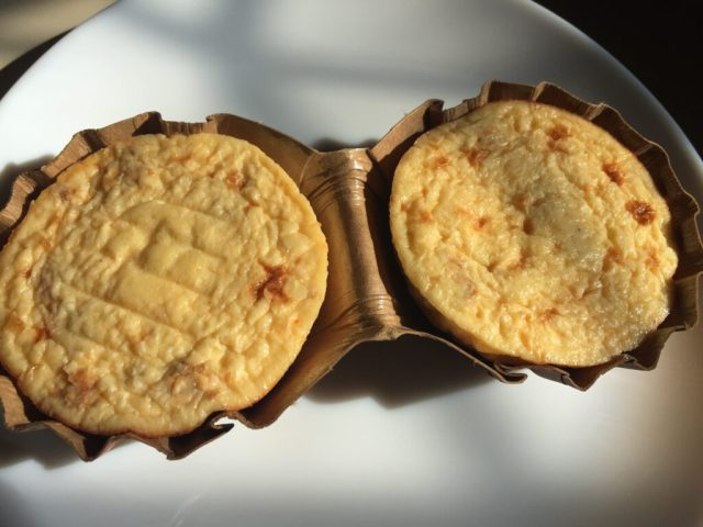 Egg bites in paper tray