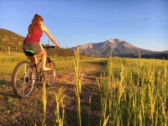 Biking through La Veta, Colorado