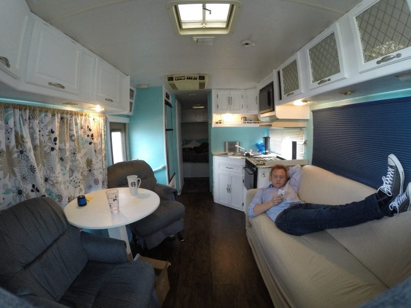 living in an rv