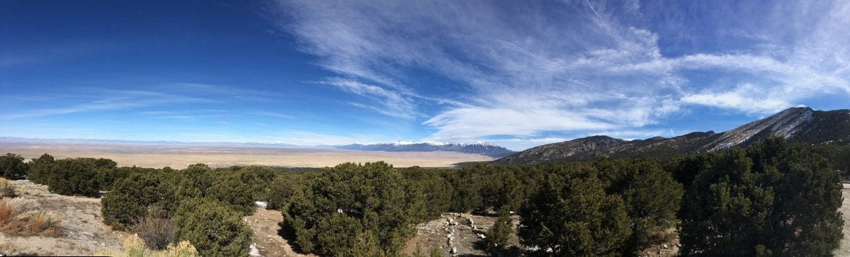 pano of great sand dunes national park