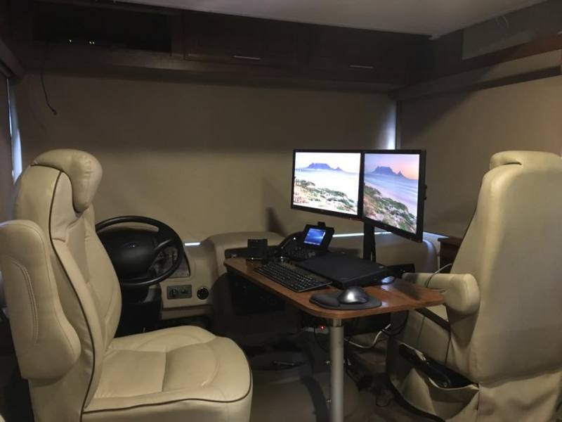 Mark Roberts office set-up