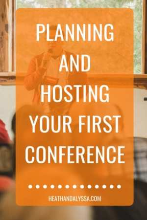 how to plan a conference